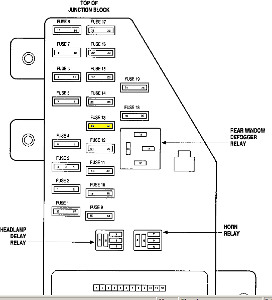 1997 chrysler cirrus fuse box 1997 wiring diagrams online
