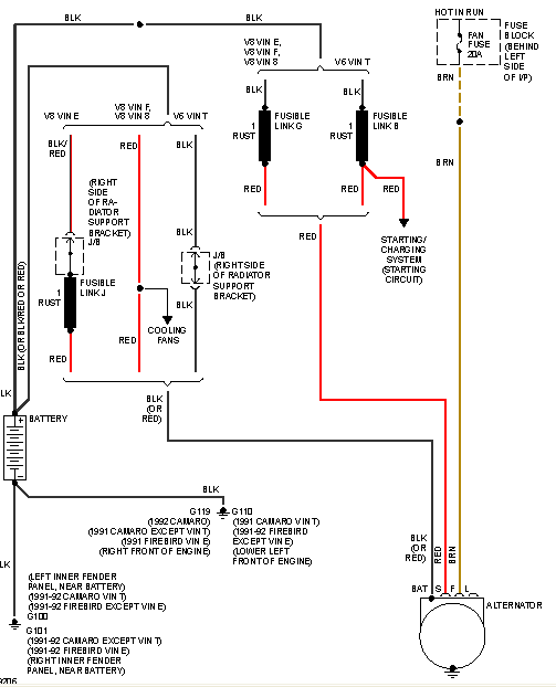 chevy charging wiring diagram i have a 1991 camaro and the charging system is not ...