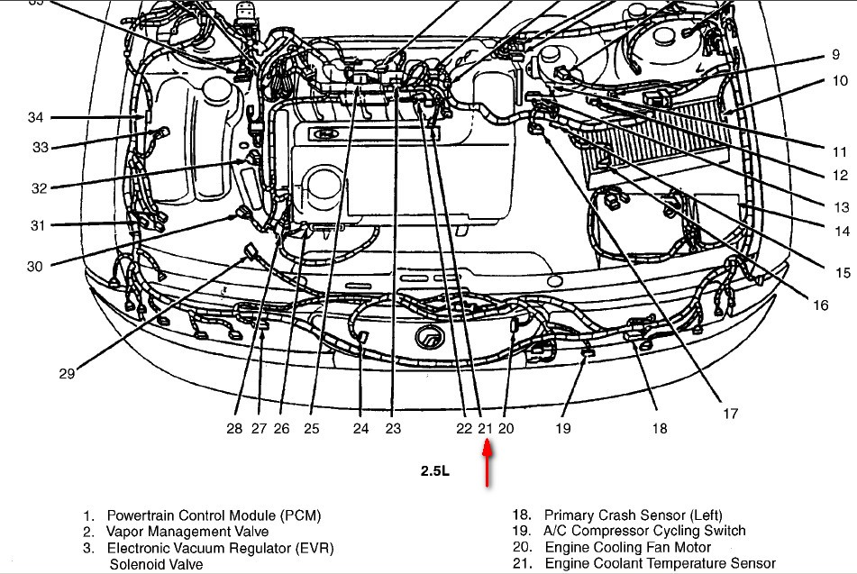 2001 lincoln town car firing order diagram