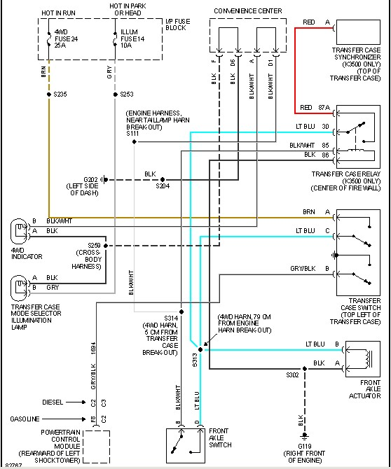 Chevrolet K2500 4x4 How Can I Get A Diagram Of How The Back