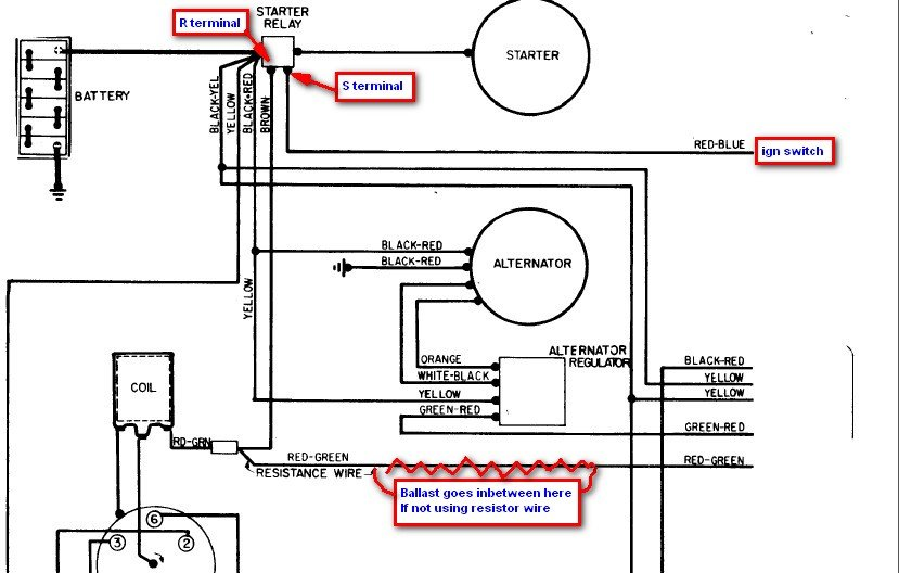 81 Toyota Pickup Alternator Wiring Diagram : F starter wiring diagram get free image about