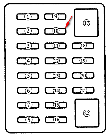 1999 mazda miata fuse box diagram