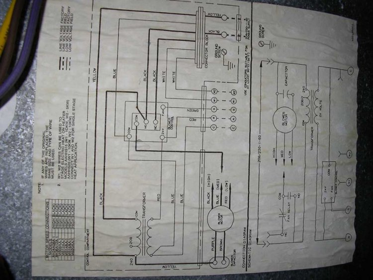 I Need A Wiring Diagram For The Blower Relay On A Heil