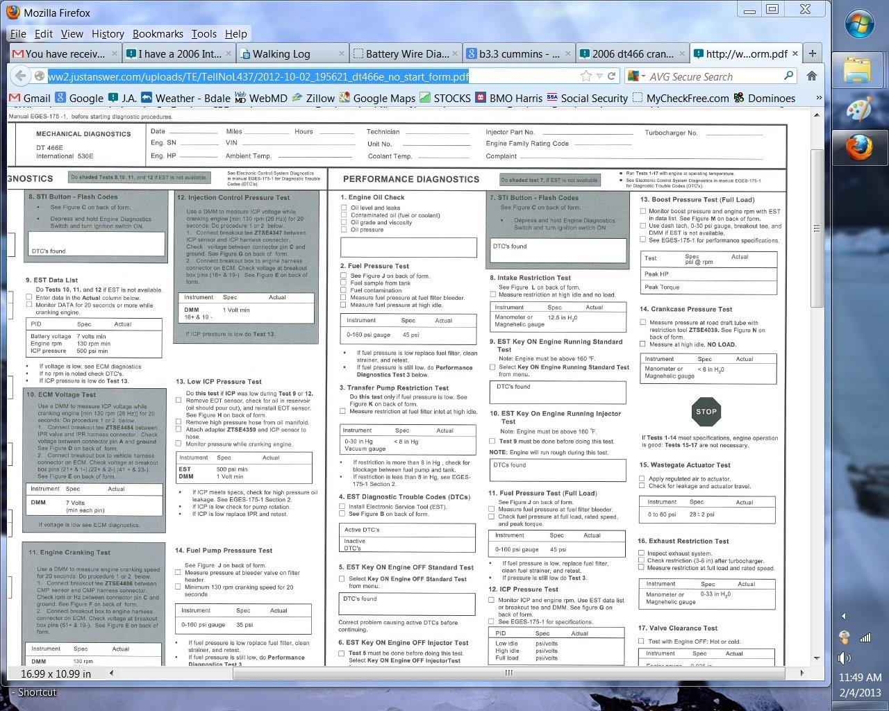 International Dt466 Parts Manual - xilusdocs