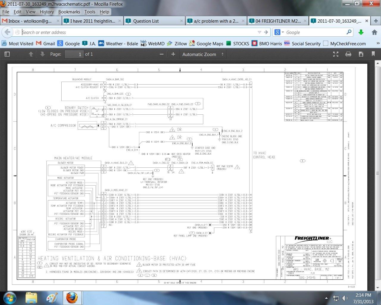I Have 2011 Freightliner M2 Vin Ba5955 Blower Motor Don U0026 39 T