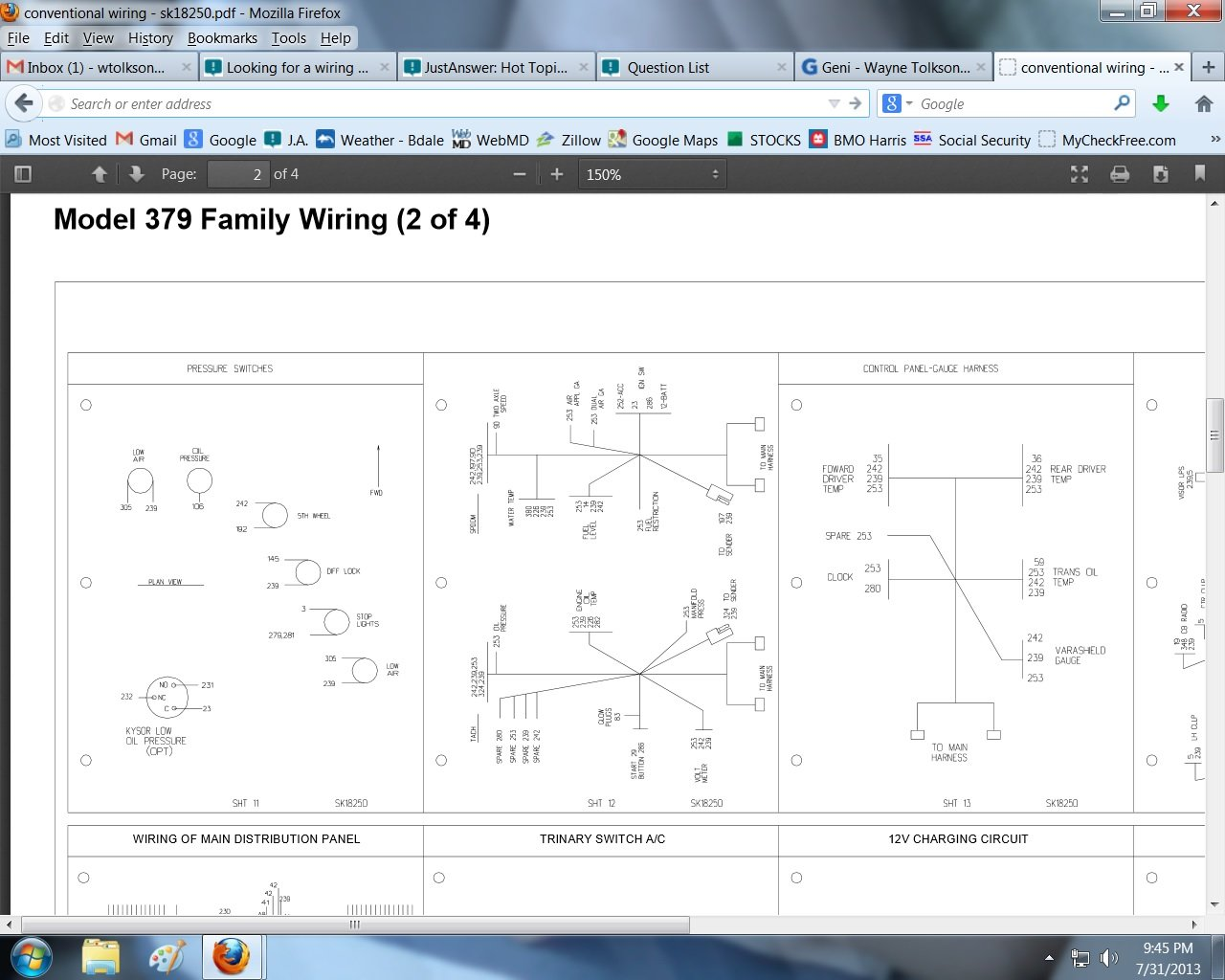 looking for a wiring diagram for a 1979 359 peterbilt conventional for