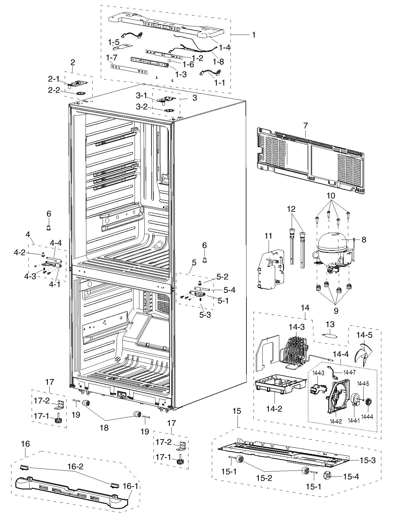 we have a samsung rf217acpn refrigerator  freezer  french door with bottom freezer   initially