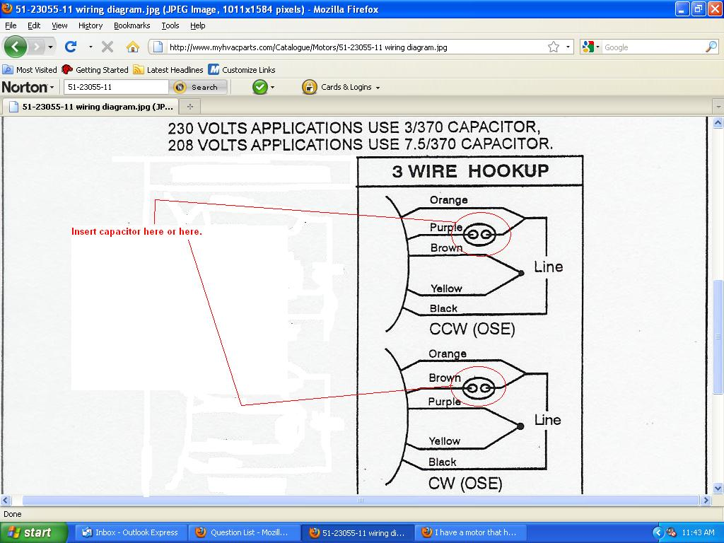 i have a motor that has 5 wires and i need to convert it to your assumptions regarding the rest of the wires are accurate you will need to know which direction the motor needs to run here s the diagram i am