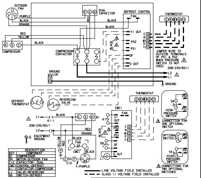 model wiring lennox diagrams lga048h2bs3g i bought a capacitor replacement for my lennox a c it
