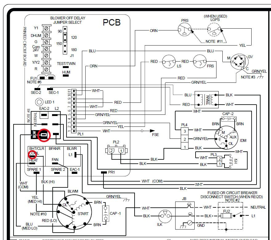 thermostat wiring diagram for gas furnace