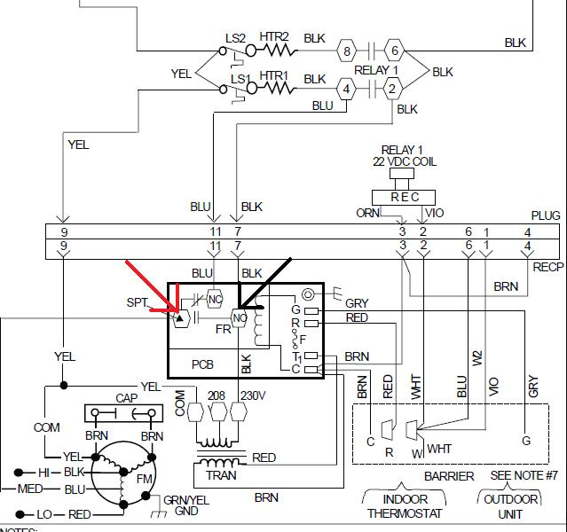 fan coil runs continuously even with thermostat off or disconnected  model fb4bnf042000aaa