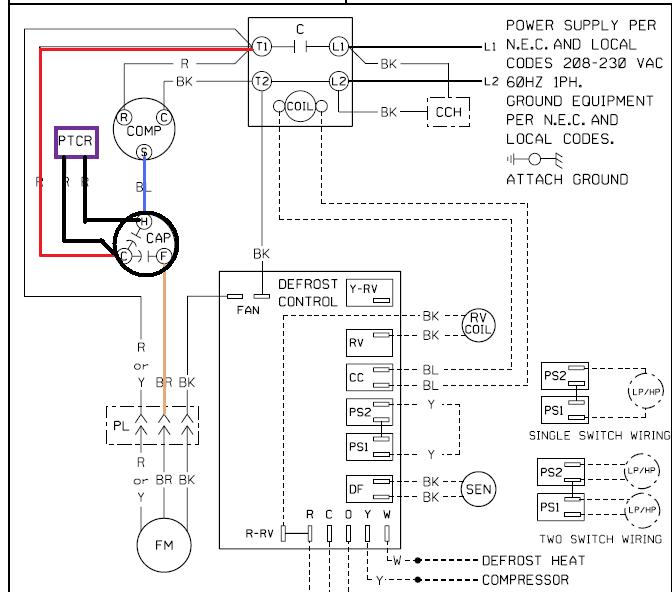 dual capacitor with start wiring schematic