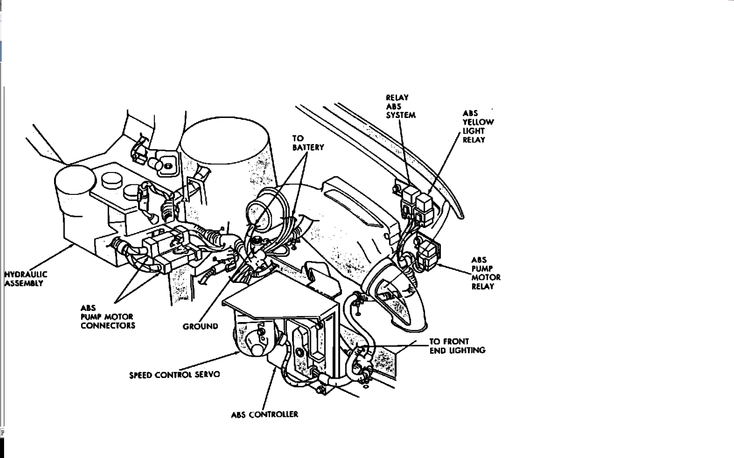 Service Manual  1998 Chrysler Town Country Diagram Showing Brake Line