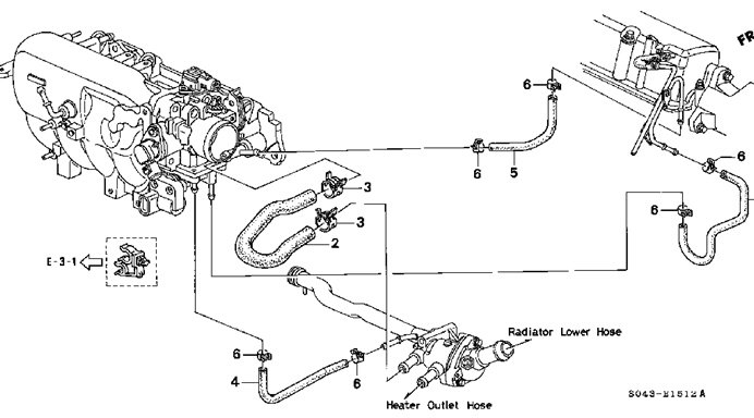 97 honda civic cooling system diagram  97  free engine