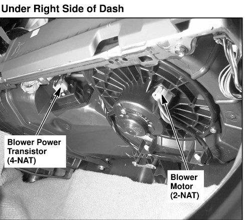Honda Cr V Blower Motor Resistor Location On 2002 Honda