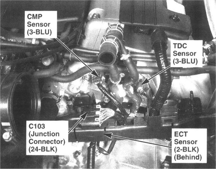temp sensor location 2001 honda cr v