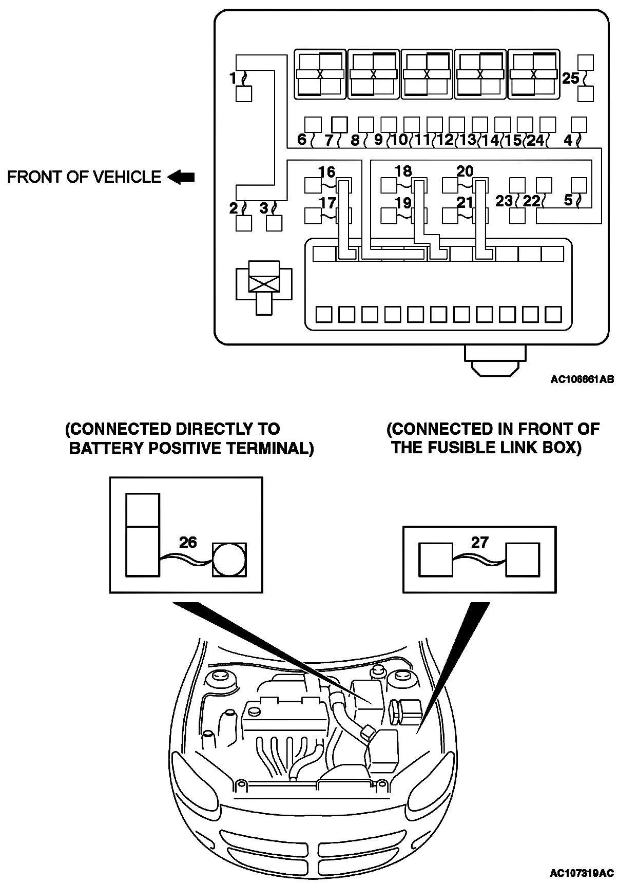 2004 Chrysler Sebring Fuse Box Power Detailed Schematic Diagrams 6 Cyl Diagram Pacifica Fwd