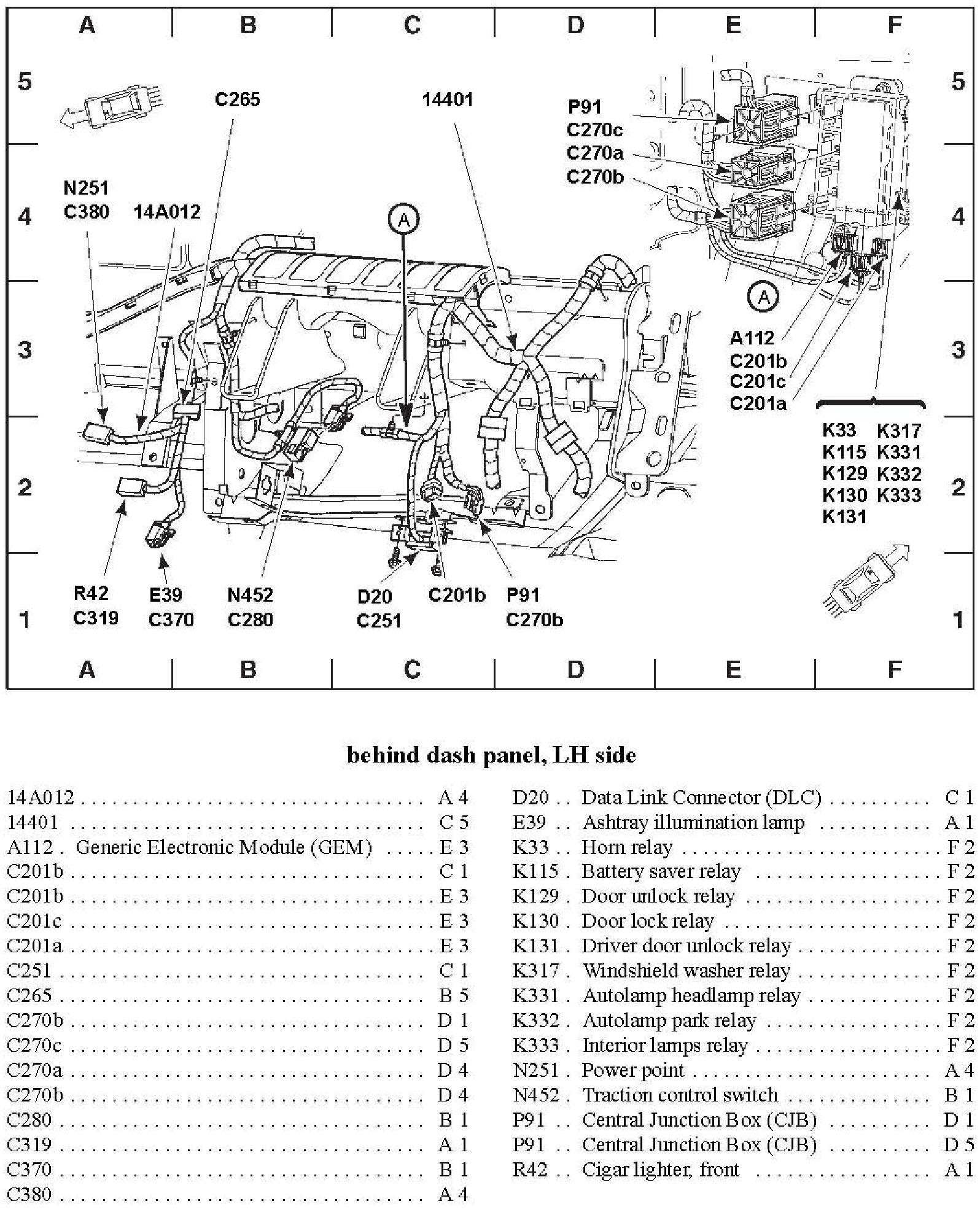 2001 mercury sable fuse box diagram 2001 mercury sable ls fuse box diagram  2000 mercury sable
