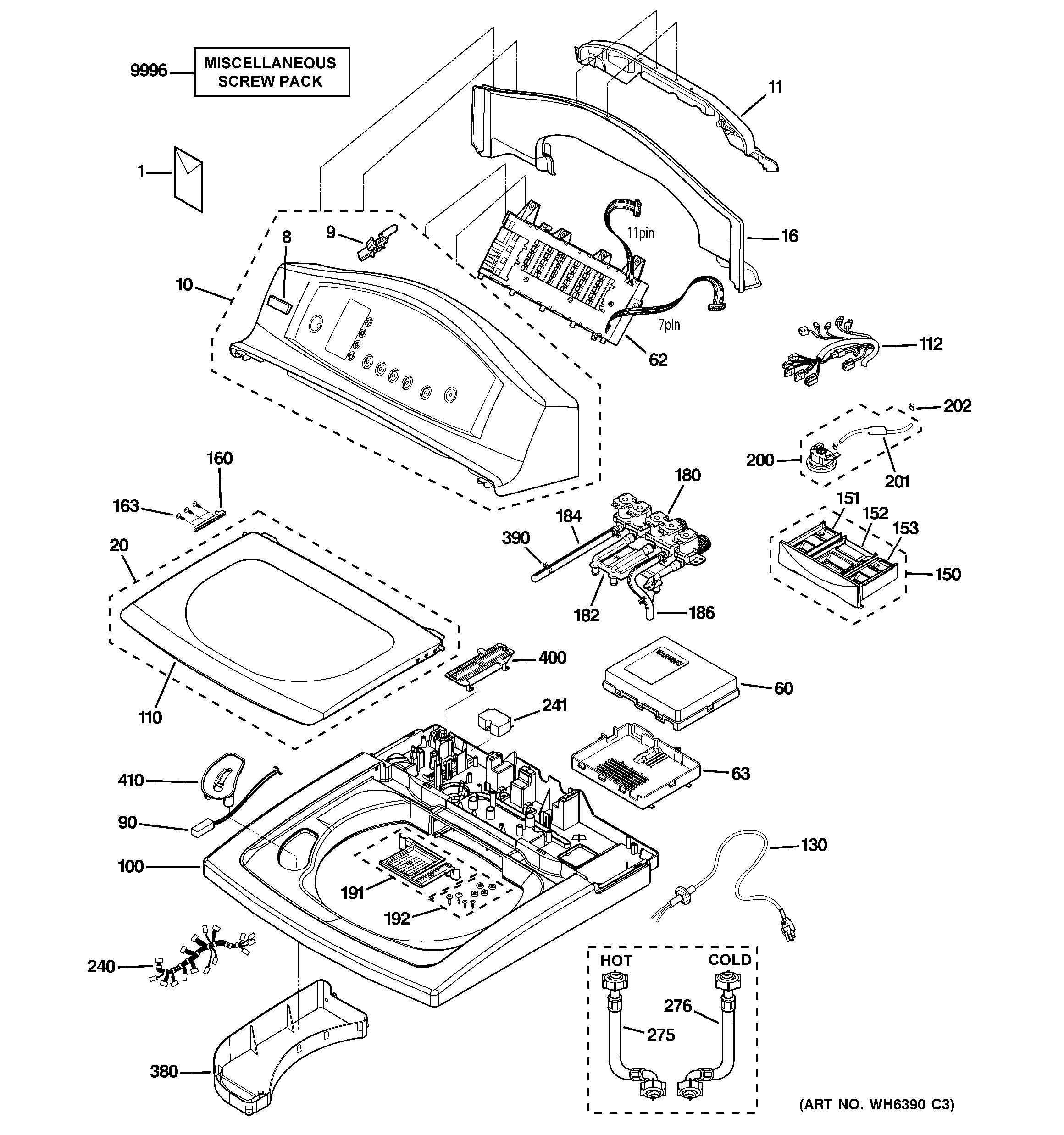 ge harmony washer parts diagram