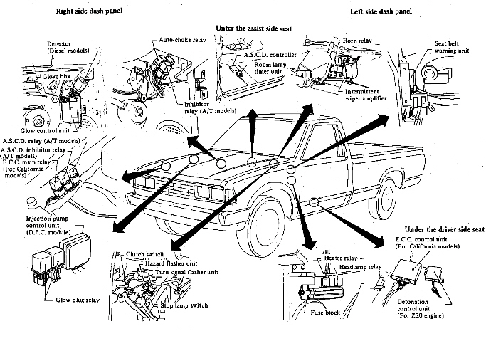 86 nissan z24 vacuum diagram  86  free engine image for