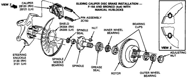 2003 f150 wheel hub diagram