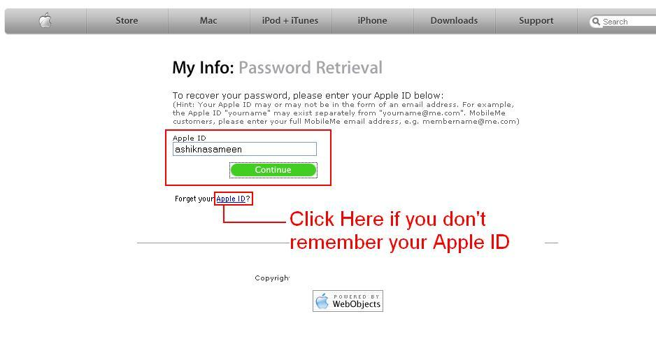 how to get apple to send you a macbook password