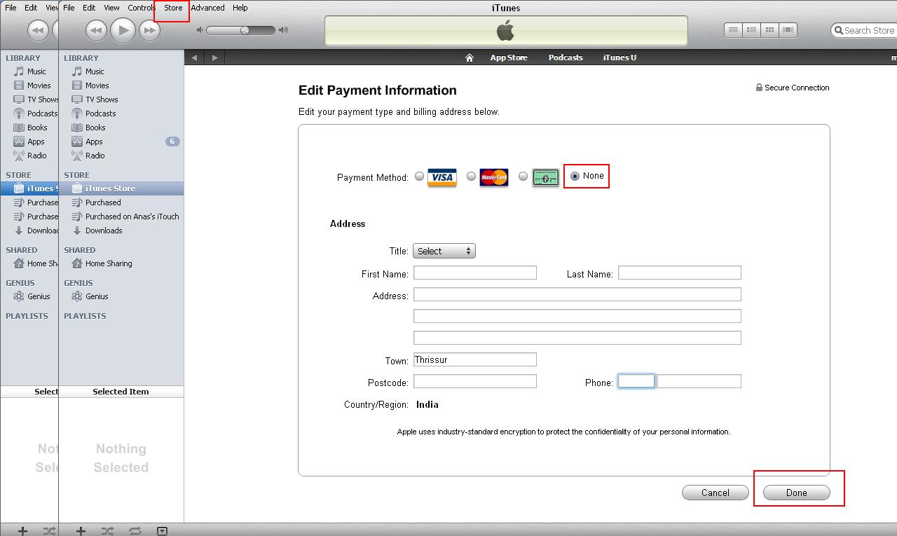 I need to cancel my credit card on my itune account. Sandi