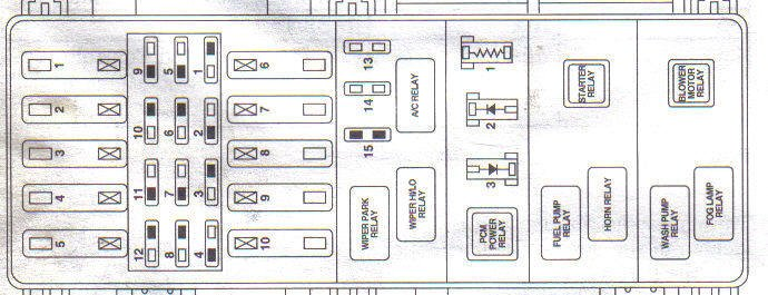 1997 ford f250 fuse panel diagram 2000 explorer xlt 4 0l sohc 109565 miles began having