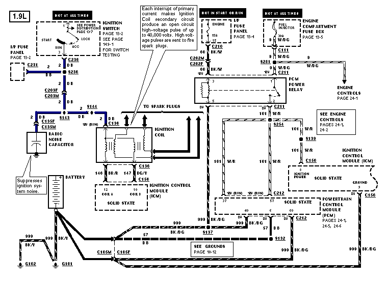 1.9l diagram electrical escort ford