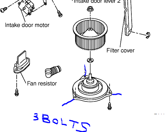 I Am Trying To Replace The Blower Motor In My 2000