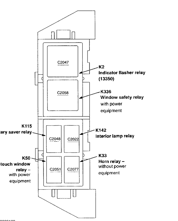 on a 2003 ford ranger 2.3l where would the flasher be located? 2003 ford ranger relay diagram 1999 ford ranger relay diagram