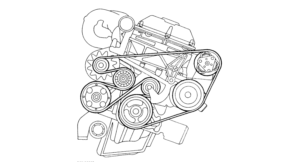 diagram serpintine belt for a 1997 saab se