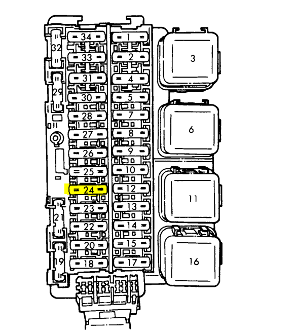 1997 Nissan 200sx Fuse Diagram