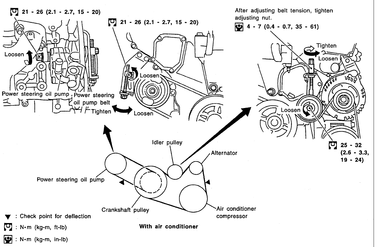 2000 nissan altima idler pulley diagram