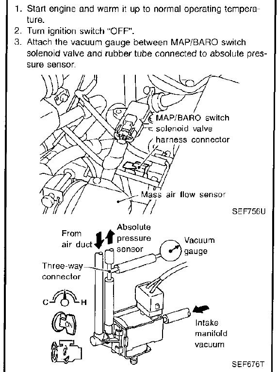 absolute pressure sensor location 2001 nissan pathfinder