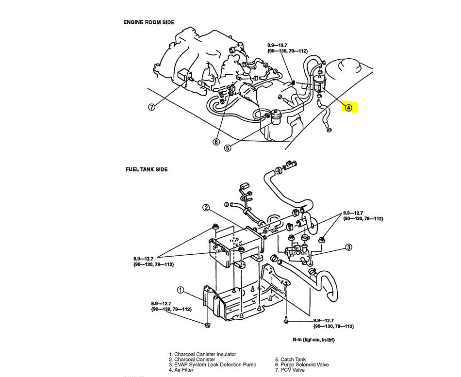 2010 ford fusion fuel filter location