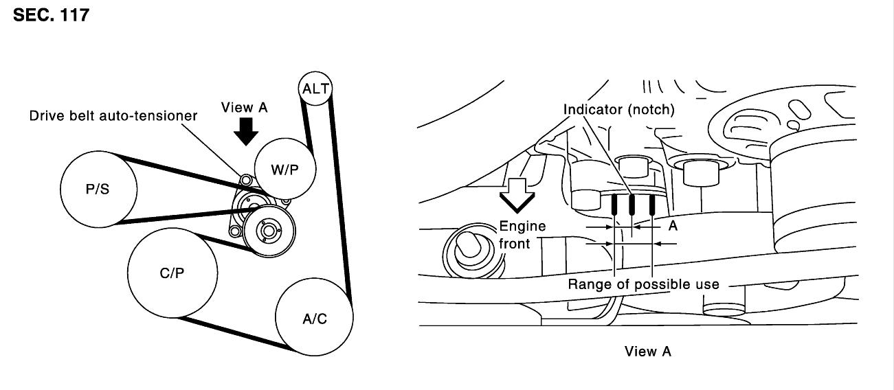 2003 nissan altima serpentine belt diagram  nissan  wiring diagram images