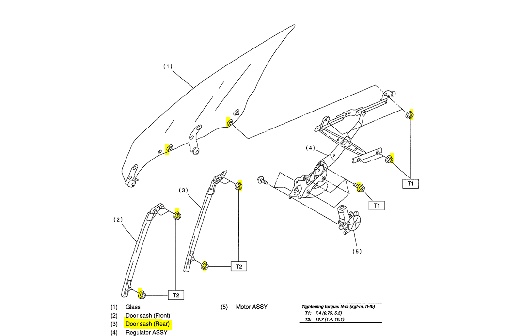 service manual  removing door lock cylinder 2001 subaru