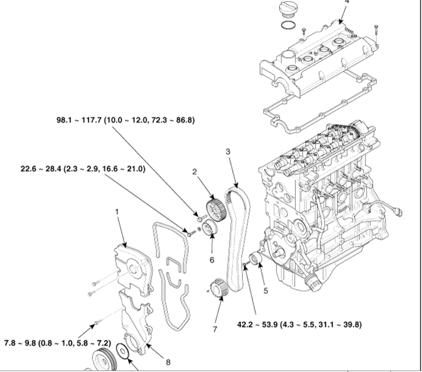 service manual  2007 kia spectra timing chain pdf