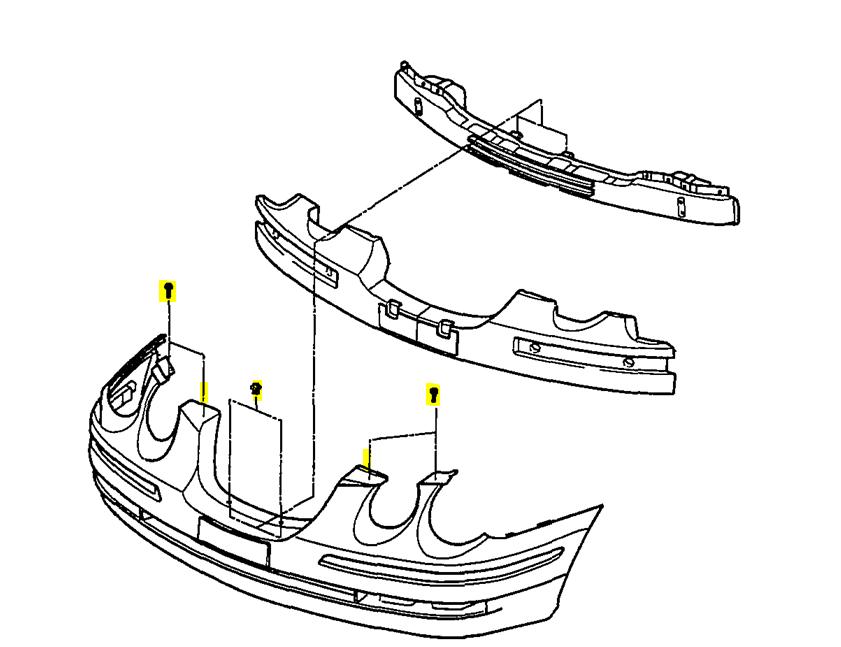 service manual  2006 kia amanti front bumper remover