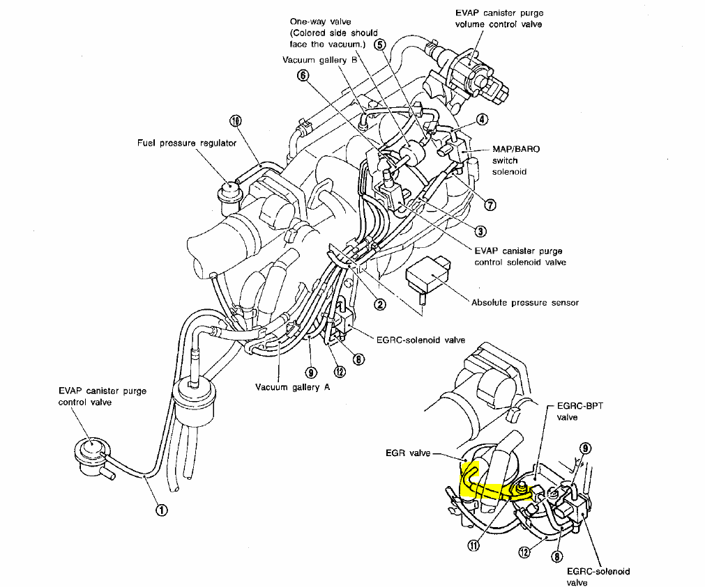 Nissan Engine Diagram : Nissan liter engine diagram get free image