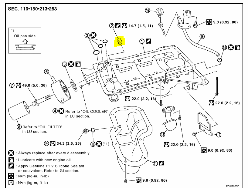 05 Pathfinder Oil Pressure Sensor Location on nissan 350z thermostat