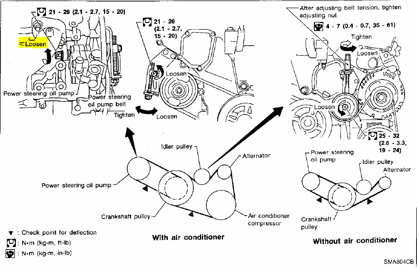 i am trying to figure out the name of the assembly that tightens the ps belt on a 98 maxima  not