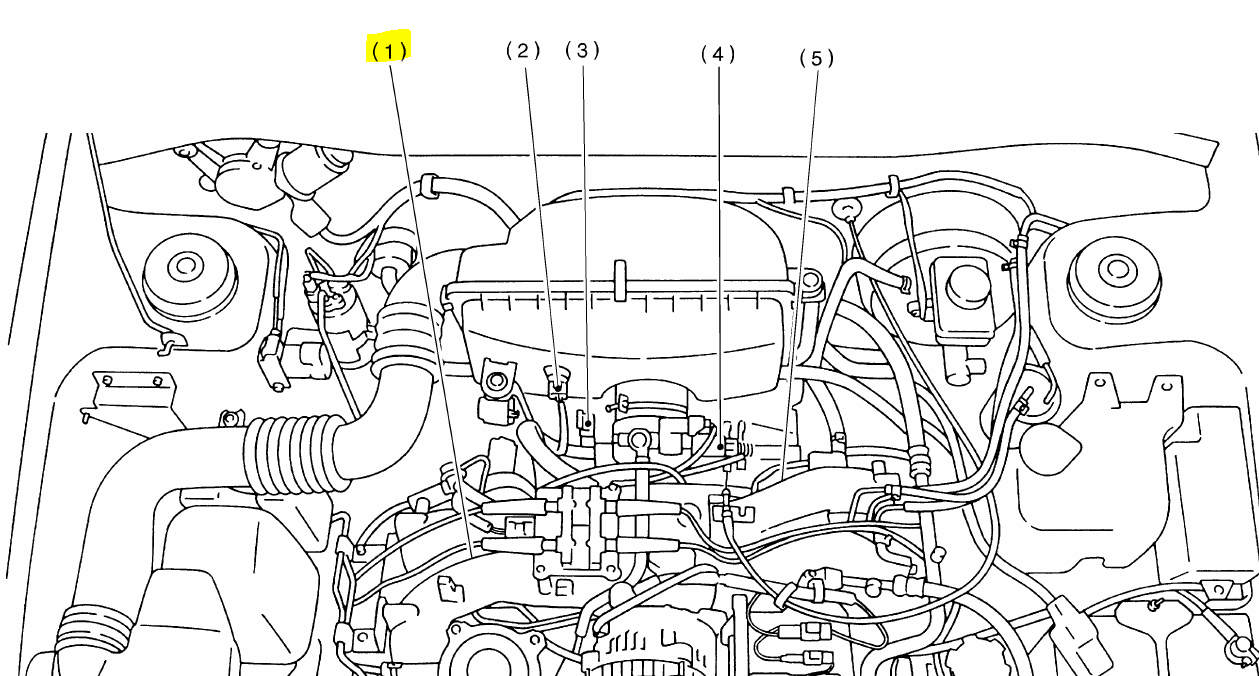 subaru impreza water pump location