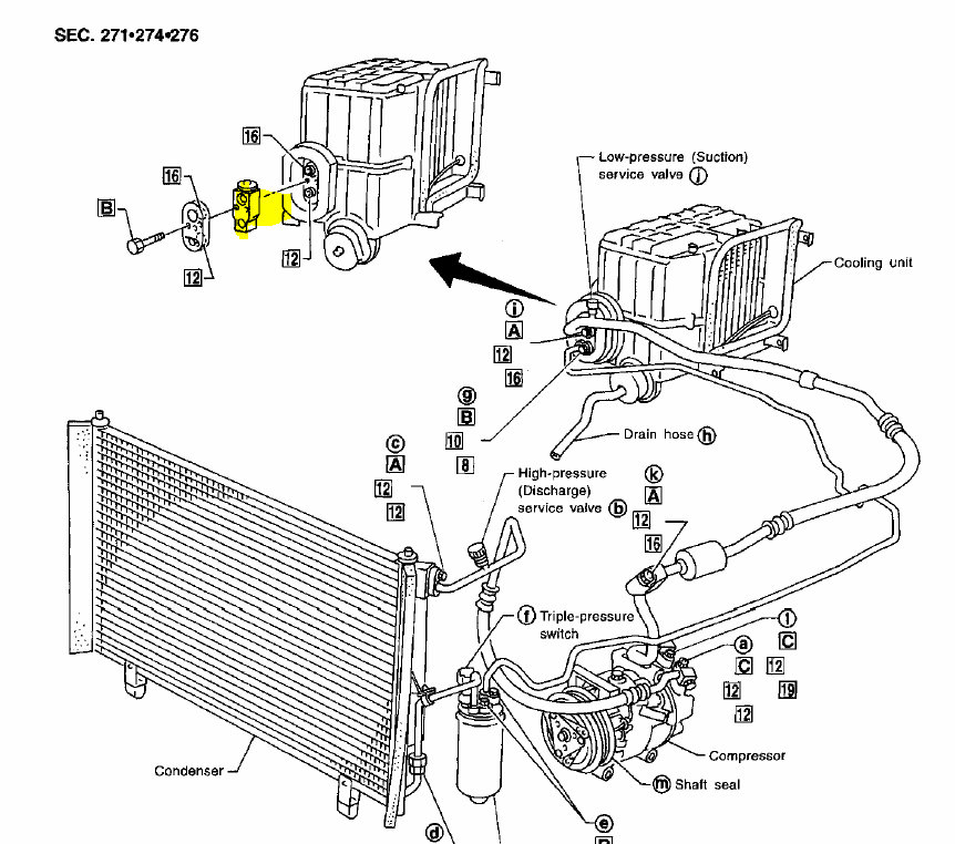 Rear Expansion Valve Location on 2002 Ford Escape Parts Diagram