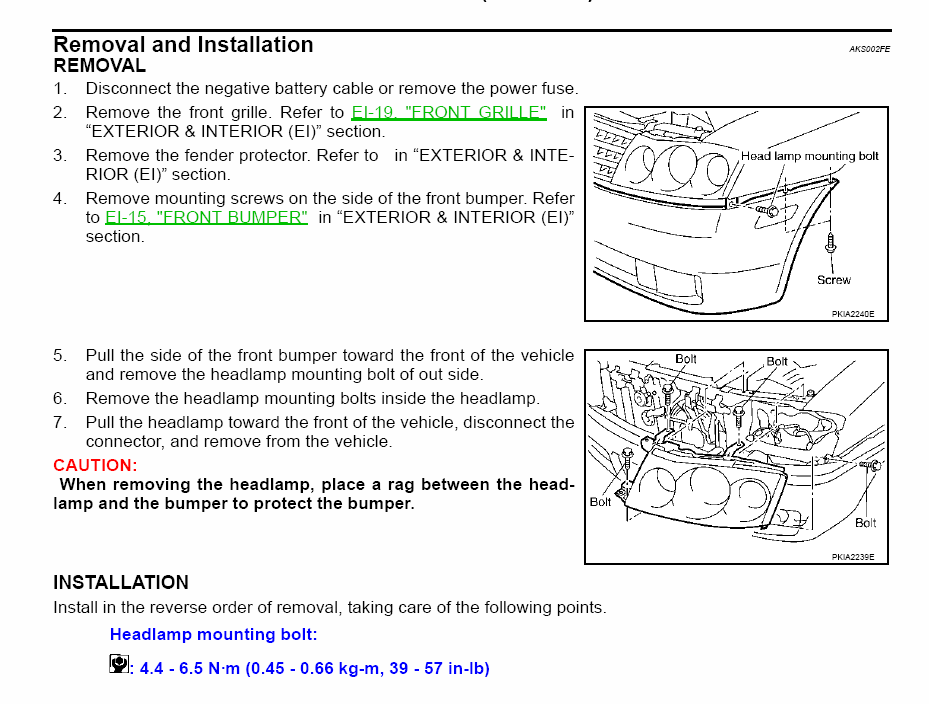 how to replace a low beam headlight on 2003 infinity m45 ok here is a diagram for the headlamp assembly