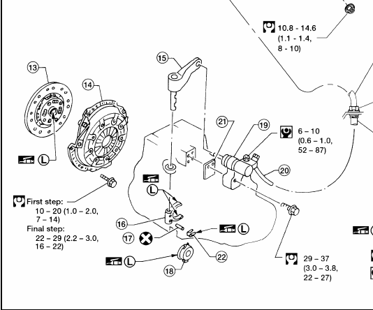 clutch throw out bearing diagram
