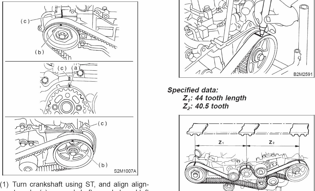 99 subaru forester  timing belt stripped   crank gear