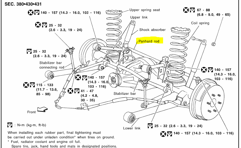 2000 nissan xterra body parts diagrams