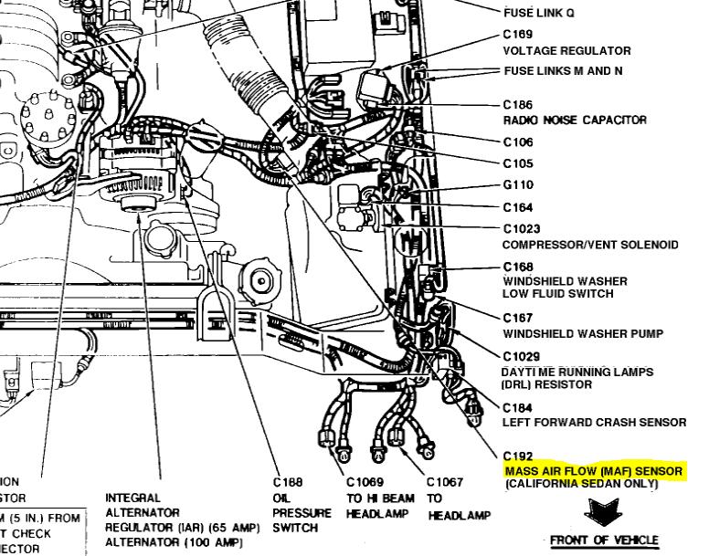Ford       focus       mass air flow sensor    location